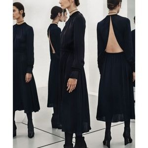 Zara Collection f/w 2017 backless black silk dress